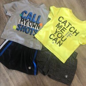 Champion 4pc Set (2 shirts/2shorts) - 18 mos